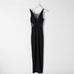 Vintage Knit Pencil Dress with Mesh Cutouts curated by Sophia Amoruso