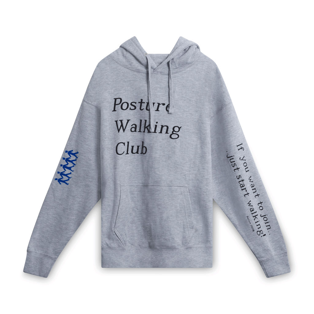 "Posture ""Walking Club"" Pullover (Grey)"