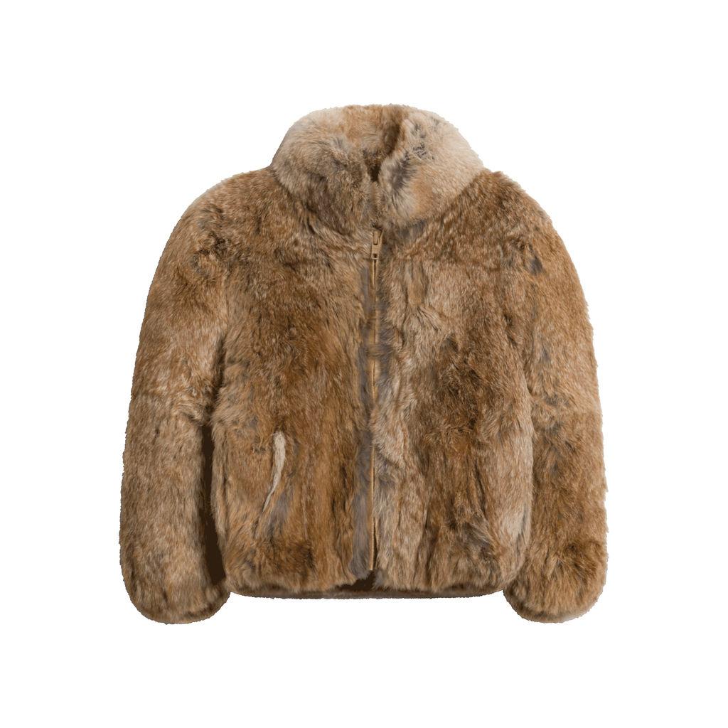 Vintage Caravelle Rabbit Fur Jacket (Brown)