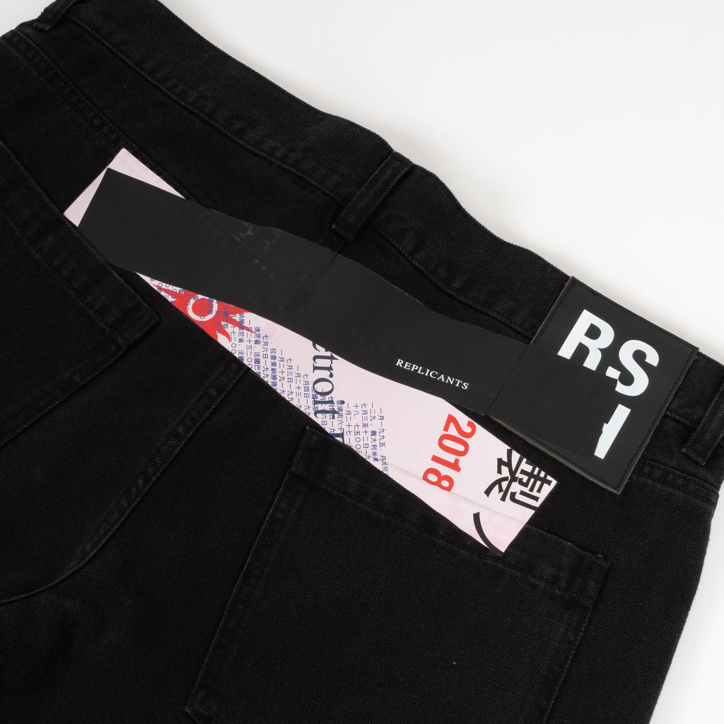 Raf Simons Replicants Printed Regular Fit Jeans