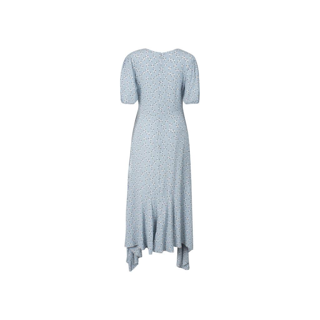 & Other Stories Cotton Blend Handkerchief Midi Dress