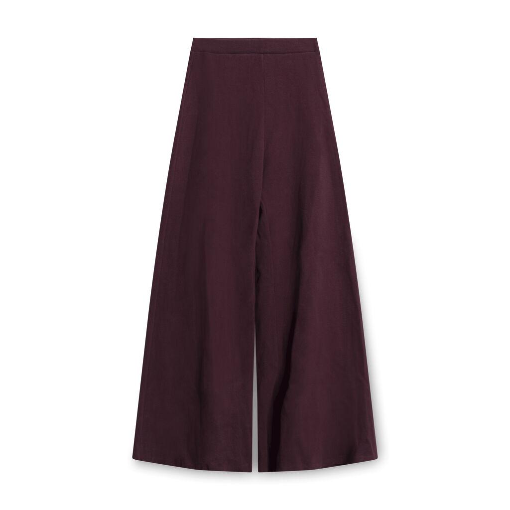 Simon Miller Wide-Legged Ribbed Trousers - Burgundy