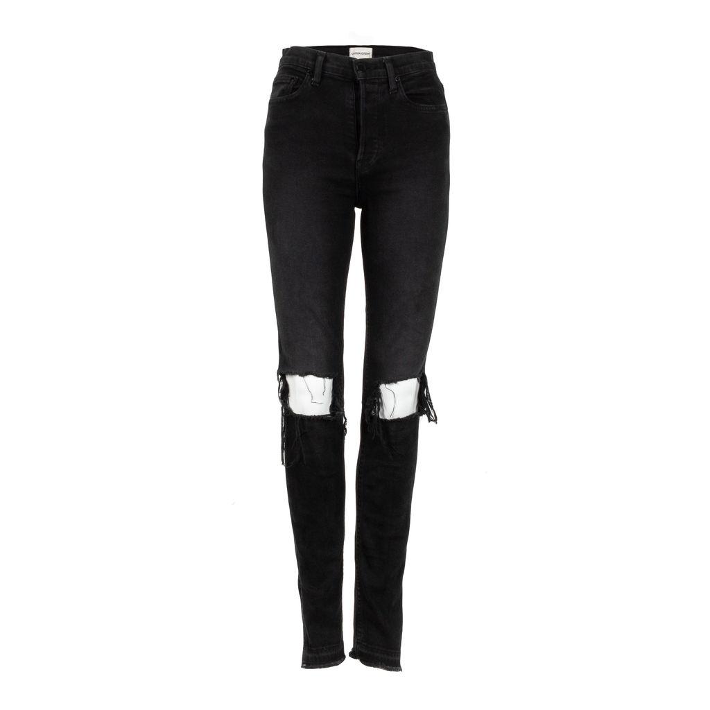 Cotton Citizen High Split Jean in Black