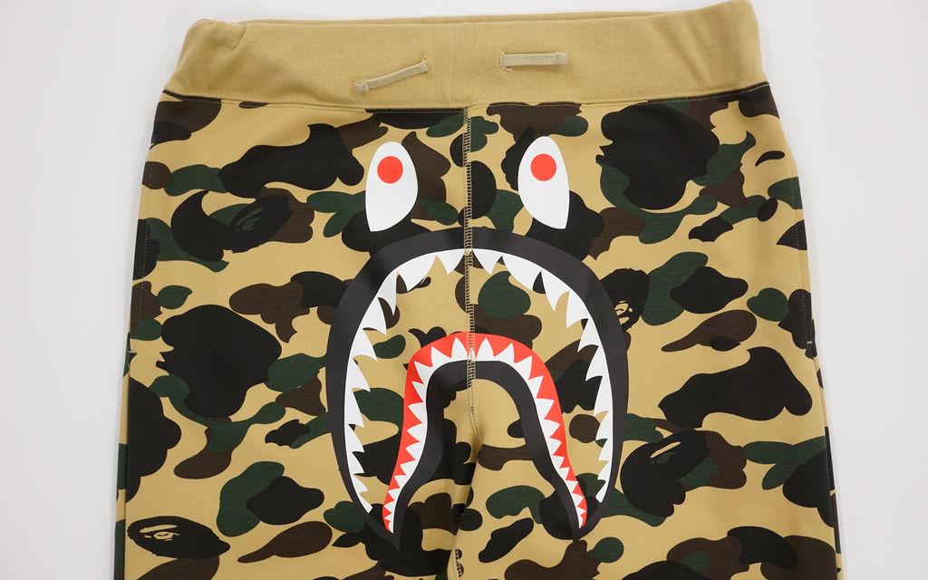 BAPE 1st Camo Gore Windstopper Shark Sweatpants