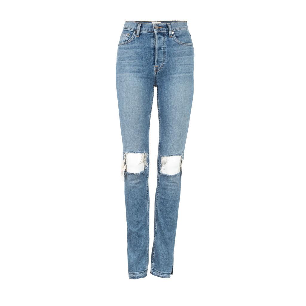 Cotton Citizen High Split Jean in Blue