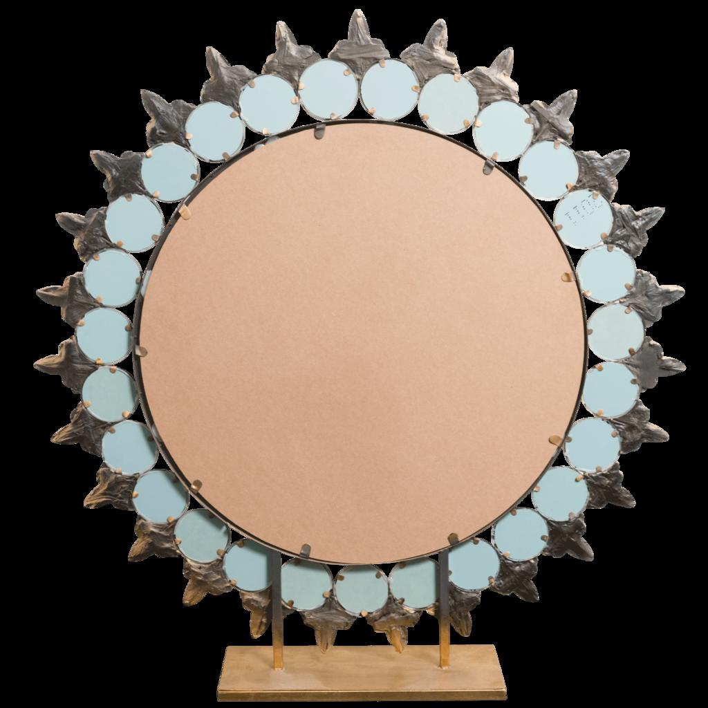 Vintage Sunburst Standing Mirror