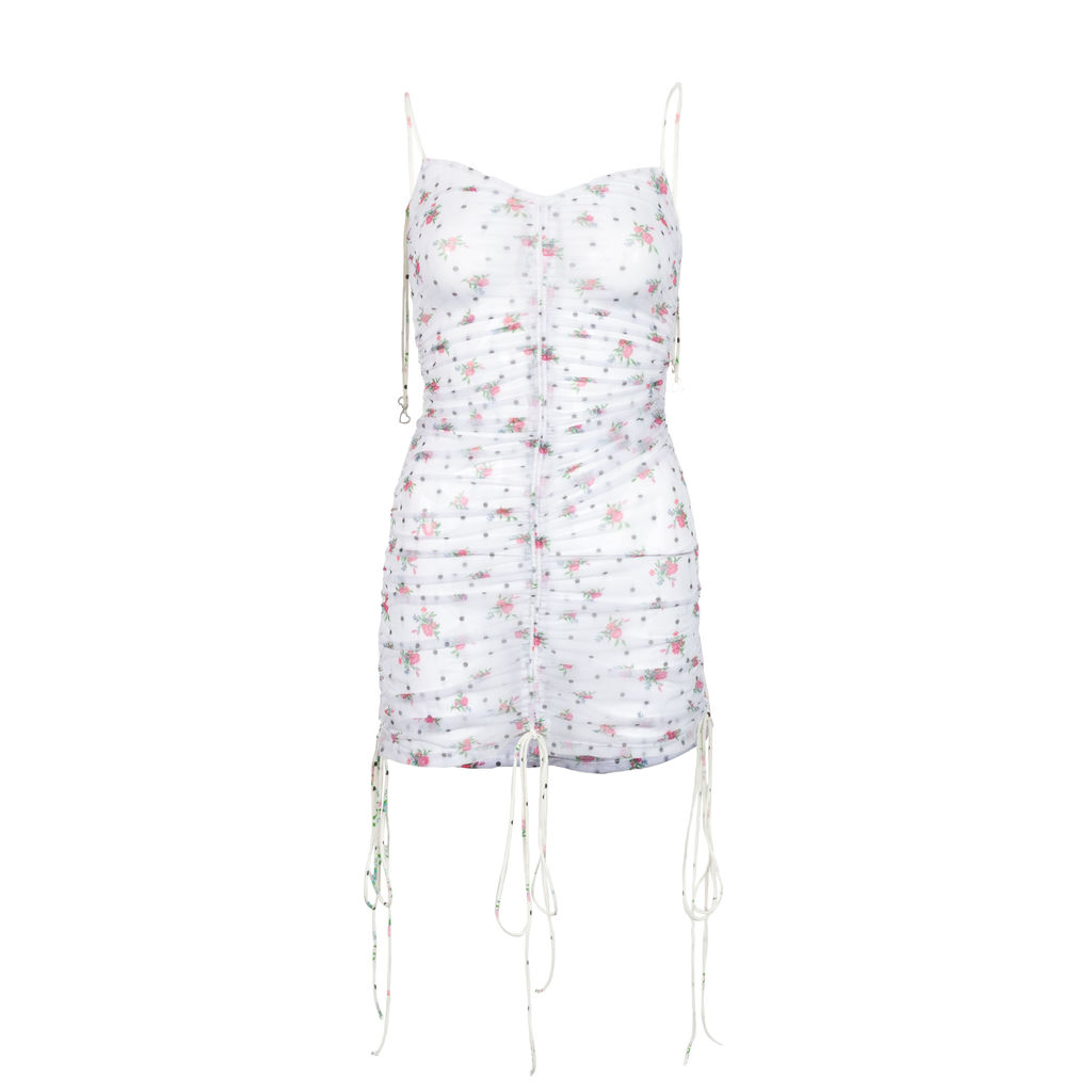 For Love and Lemons Linda Ruched Coverup