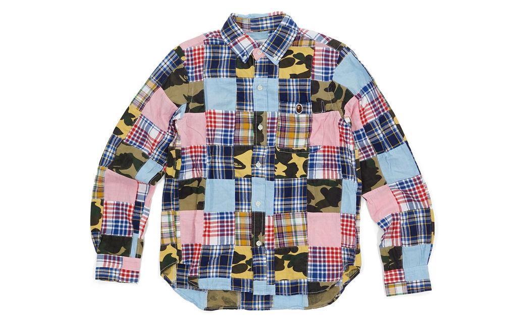Bape Patchwork Button Up Shirt