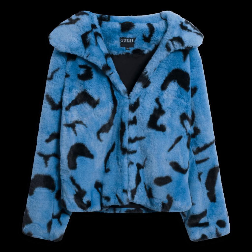 GUESS Women's Janelle Faux Fur Jacket