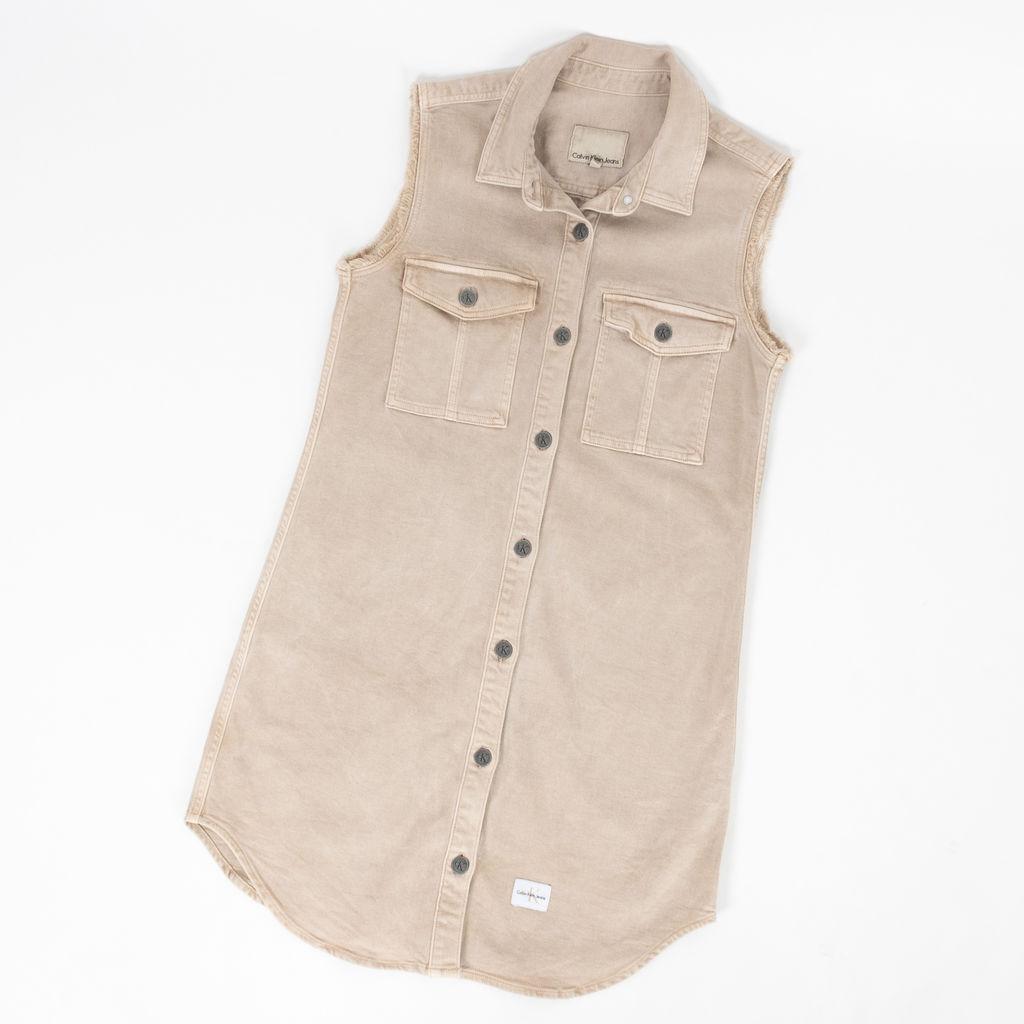Vintage Calvin Klein Jeans Button Up Dress