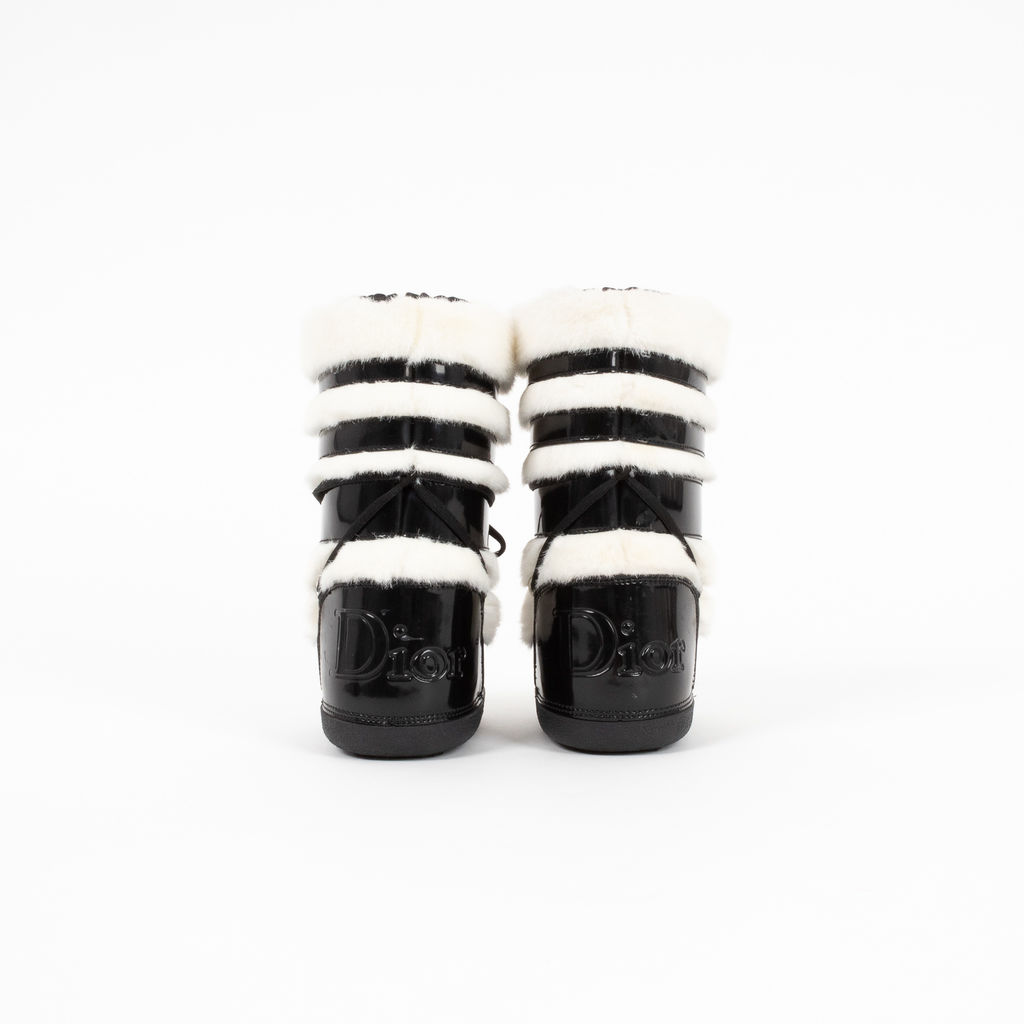 Dior Children's Faux Fur Booties