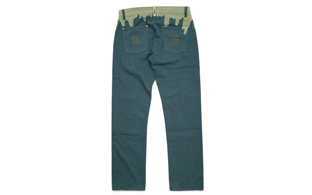 IC Embroidered Drip Color Denim Jeans