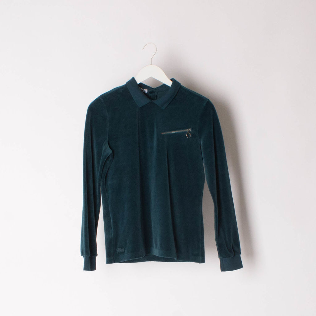 Lacoste Runway Velvet Long Sleeve Polo