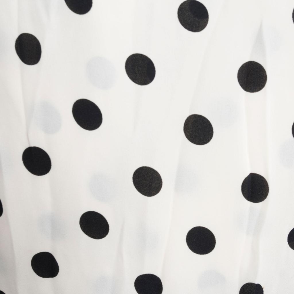 Oscar De La Renta Polka Dot Maxi Dress