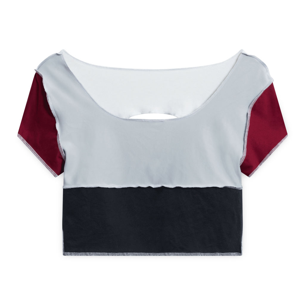 JJVintage Nike Reworked Short-Sleeve Crop Top - Black/Red