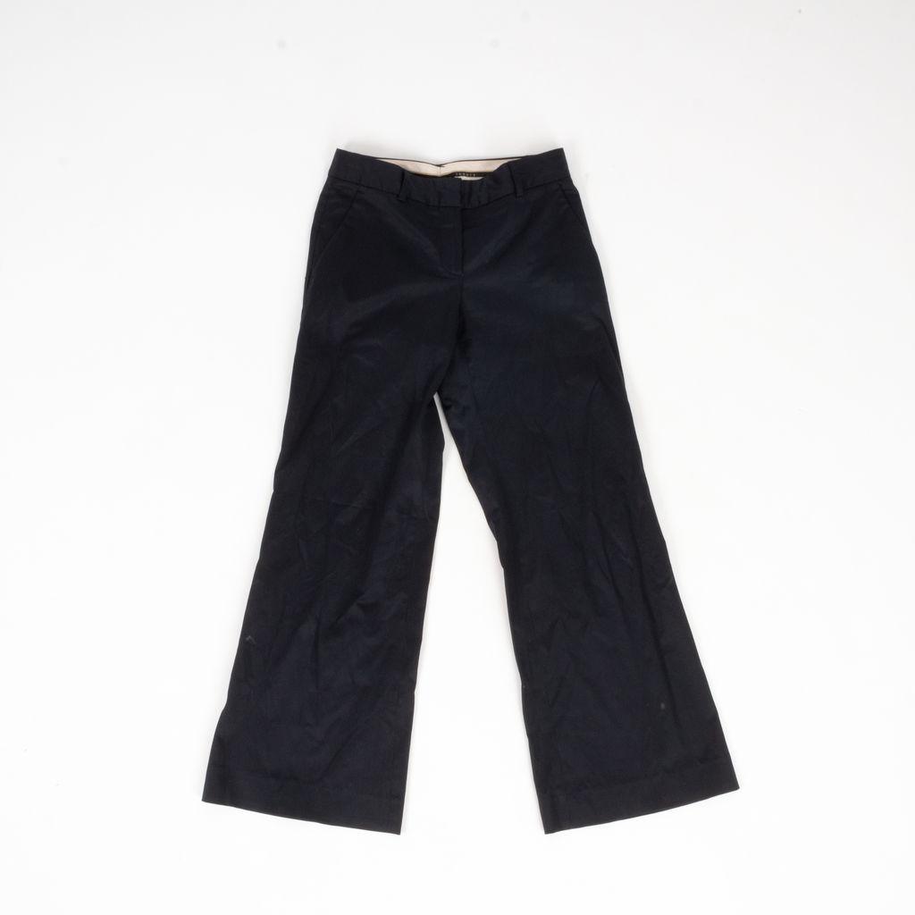Theory Pinstripe Wideleg Cropped  Pants