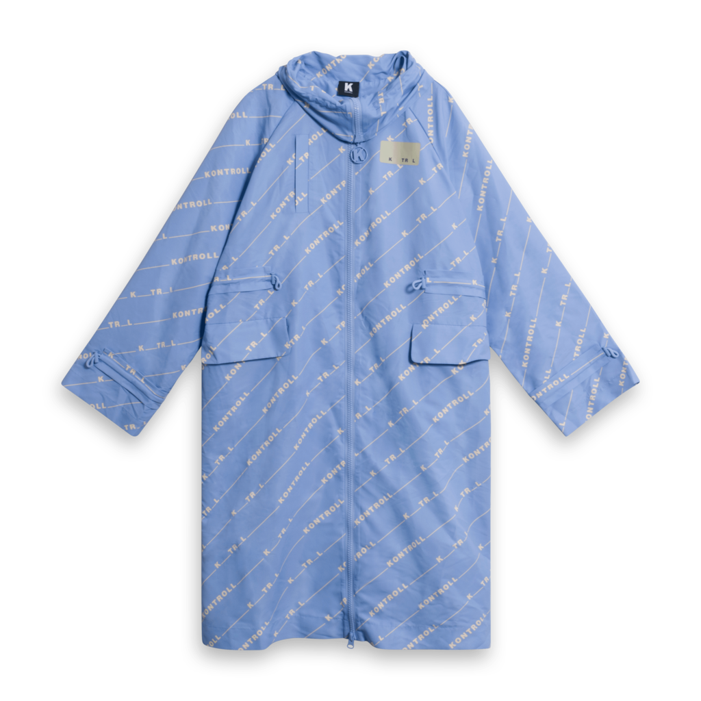 Kappa Kontroll Long Trench Coat - Azure