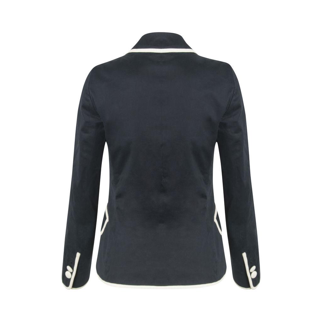 Theory Nana Navy Pinstripe Blazer