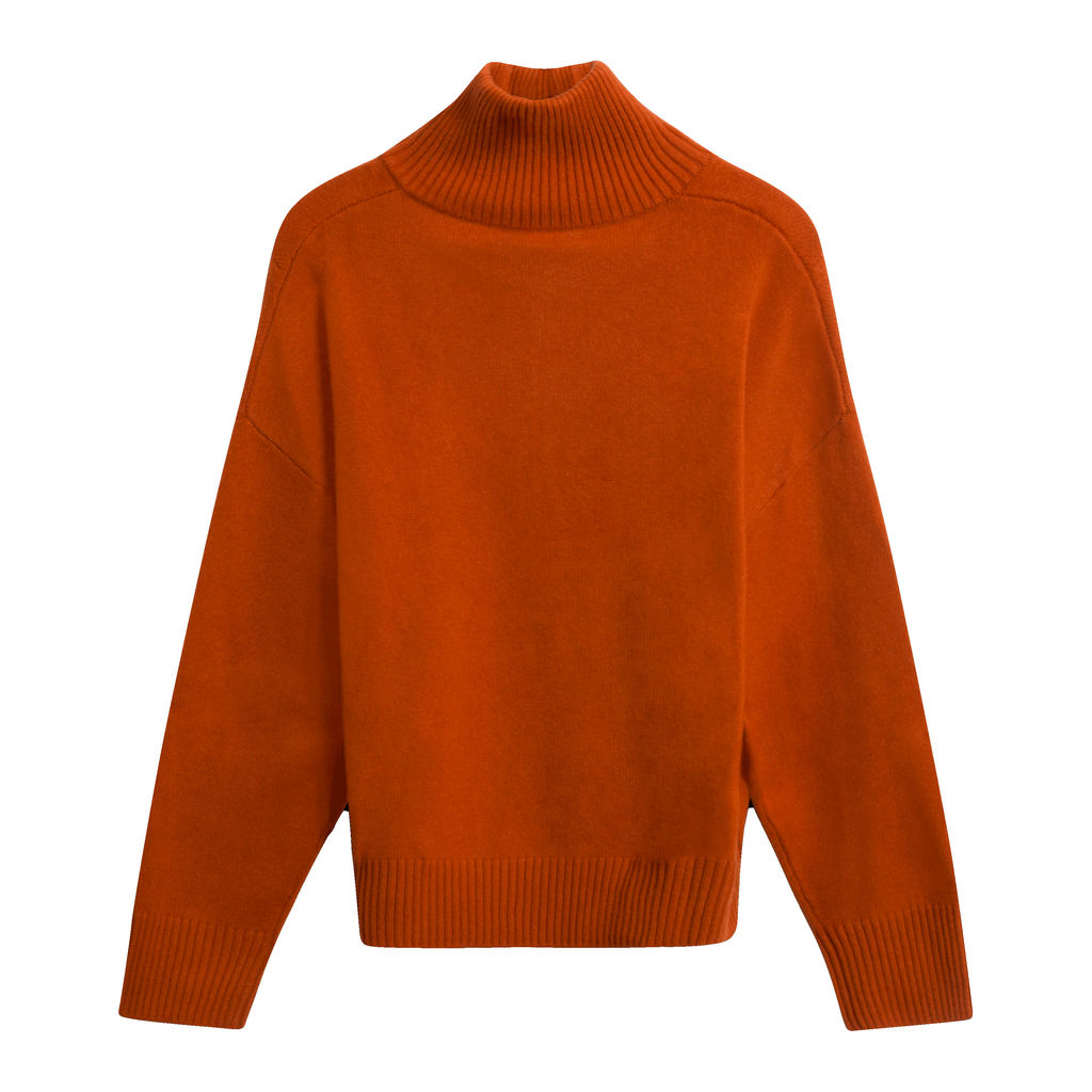 Public Habit Peggy Half-Zip Sweater in Pumpkin