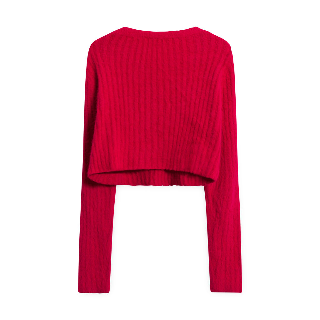 Urban Outfitters Cropped Sweater - Red