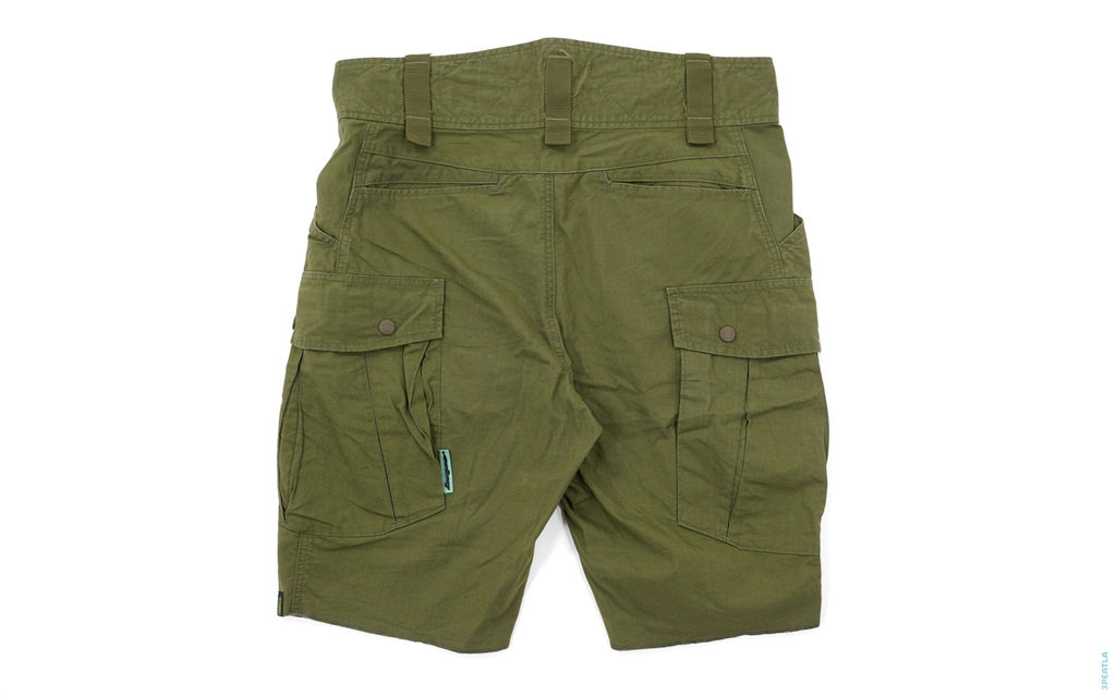 Rubber Bape Tag Army Cargo Shorts olive
