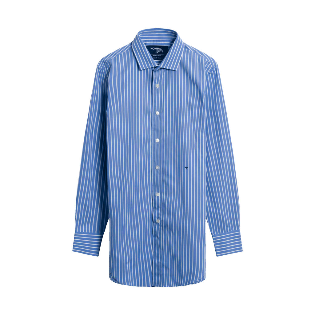 HommeGirls Striped Classic Shirt in Blue