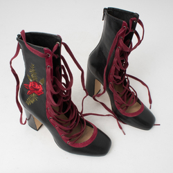 Chinese Laundry Sylvia Embroidered Lace Up Bootie curated by Sami Miro