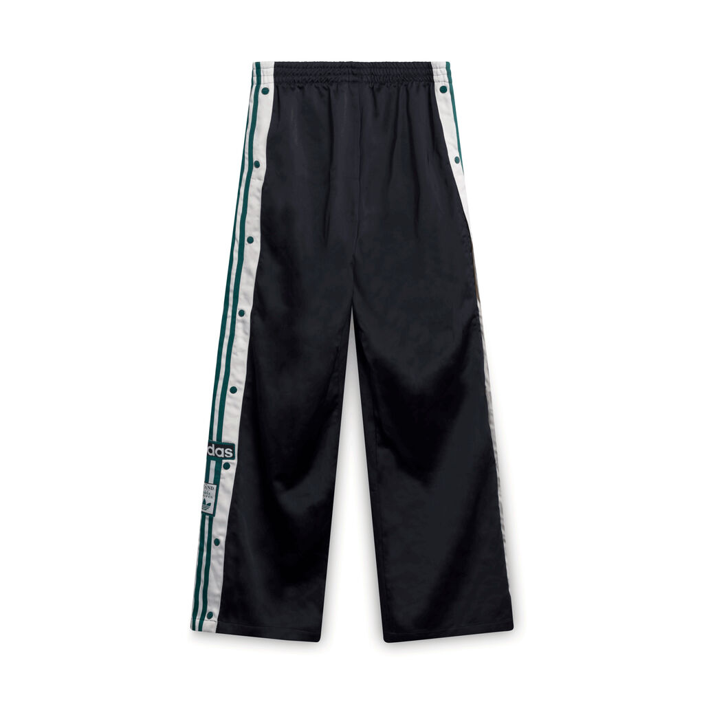 Adidas Clasped Leg Athletic Pants - Black