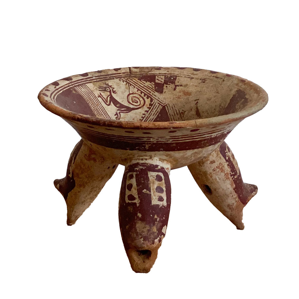 Mayan Culture Painted Ceramic Bowl