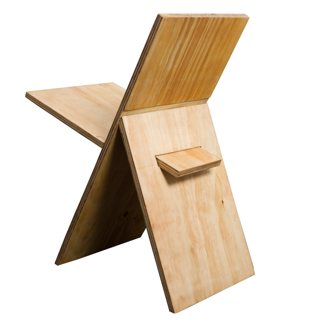 """""""A"""" Chair- Natural Plywood"""