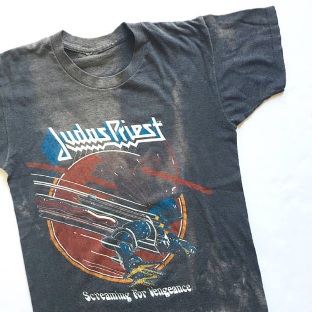 "Vintage 1982 Judas Priest ""Screaming For Vengeance"" Tour Band Rock Shirt  curated by Scott Hopkins"