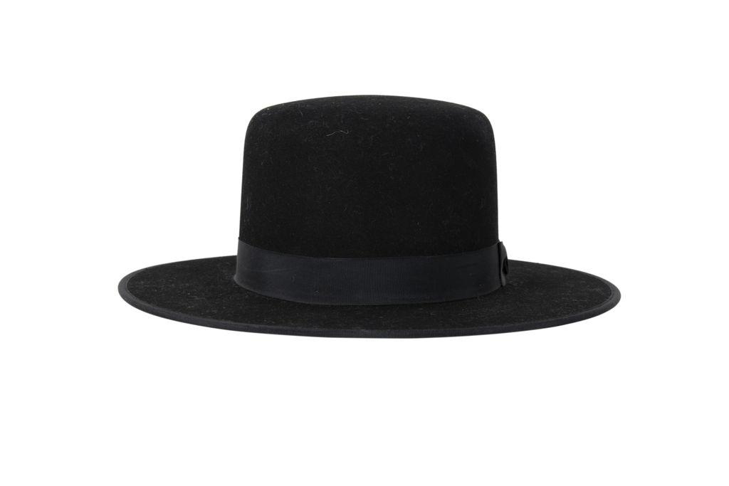 Stetson Amish Buffalo Fur Felt Open Crown Fedora Hat