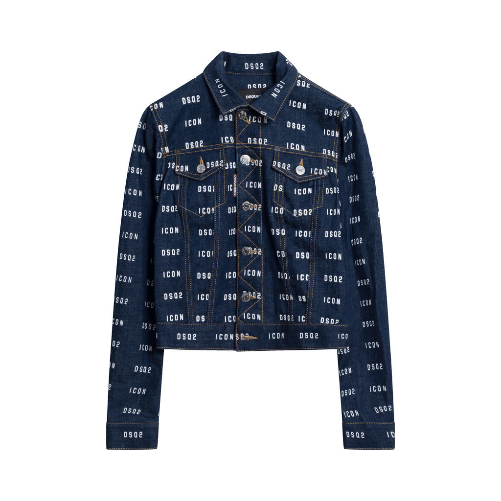 Dsquared2 ICON DSQ2 Logo Denim Jacket