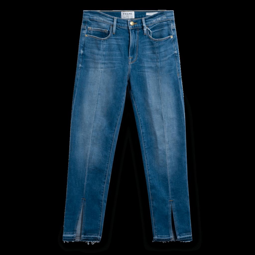 Frame Le Nouveau Straight Split Hem Jeans