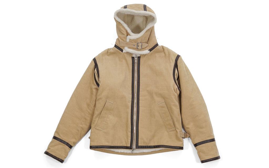 BAPE Corduroy Leather Trim Hooded Jacket