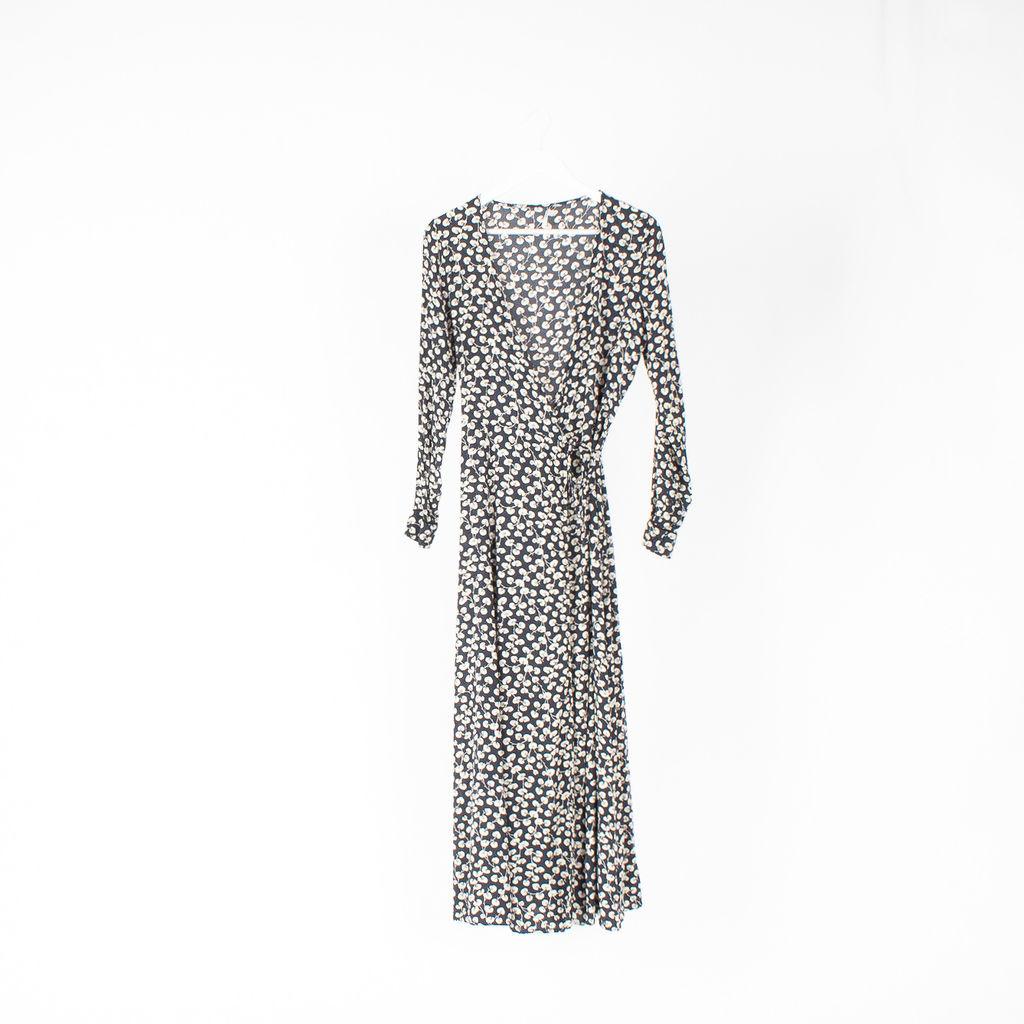 Ganni Roseburg Wrap Maxi Dress
