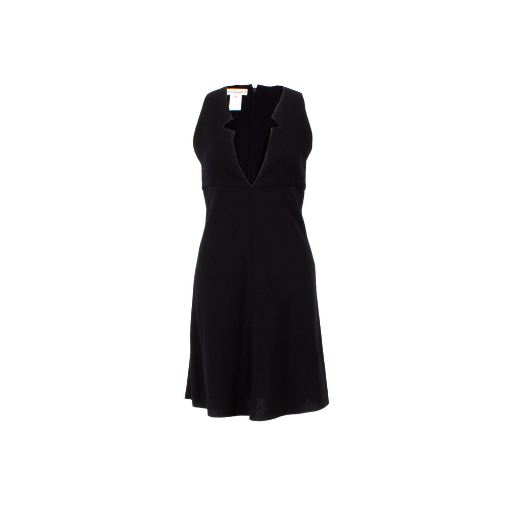 Karl Lagerfeld Collection Sleeveless Wool Midi Dress