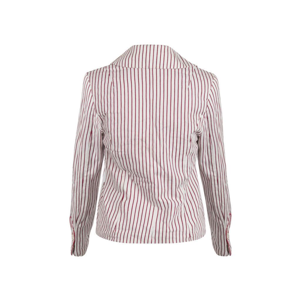 Libertine for Target Pinstripe Red & White Blazer
