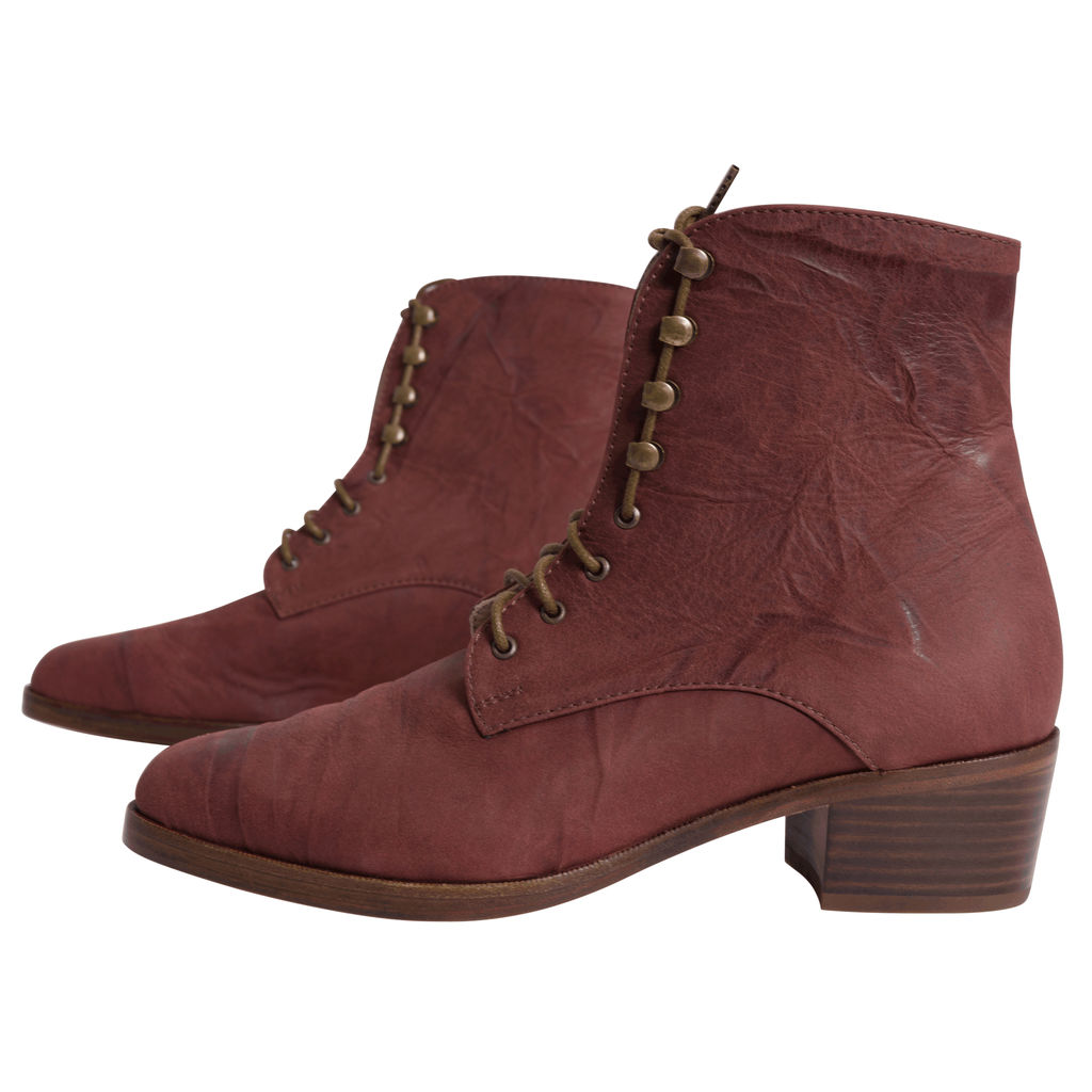 Dawn Boot in Mahogany Leather