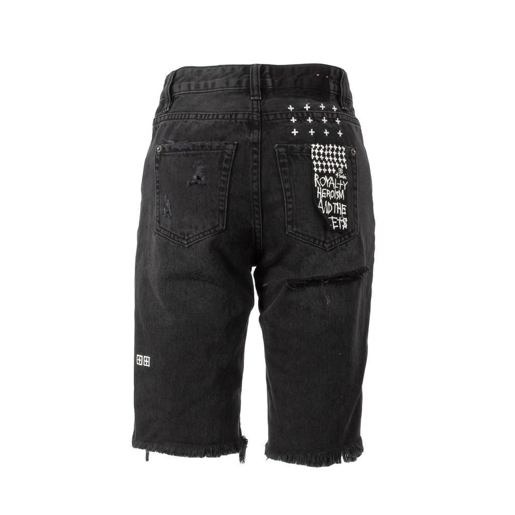Ksubi App-Laye Distressed Denim Shorts