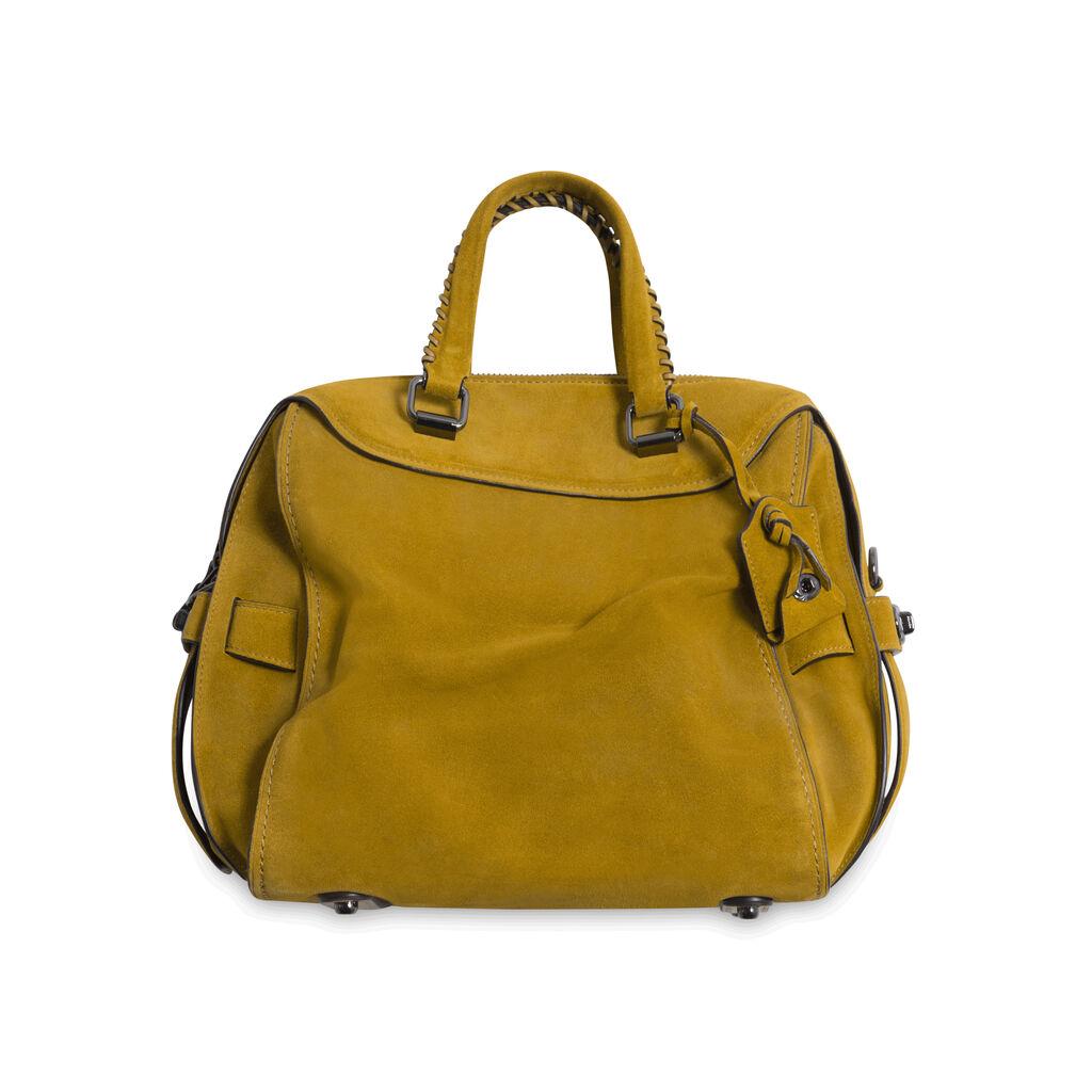 Coach Suede Adjustable Mini Duffle Bag - Tan