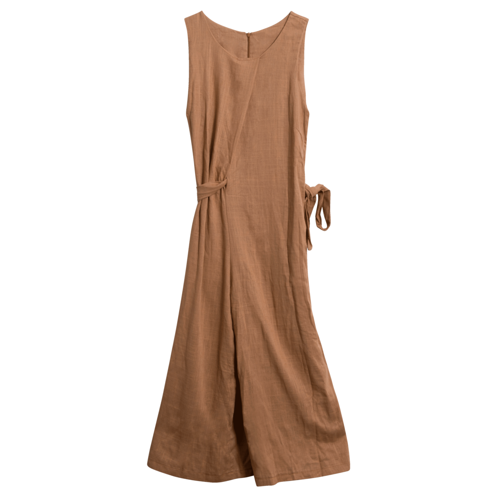 Vintage Copper Linen Jumpsuit