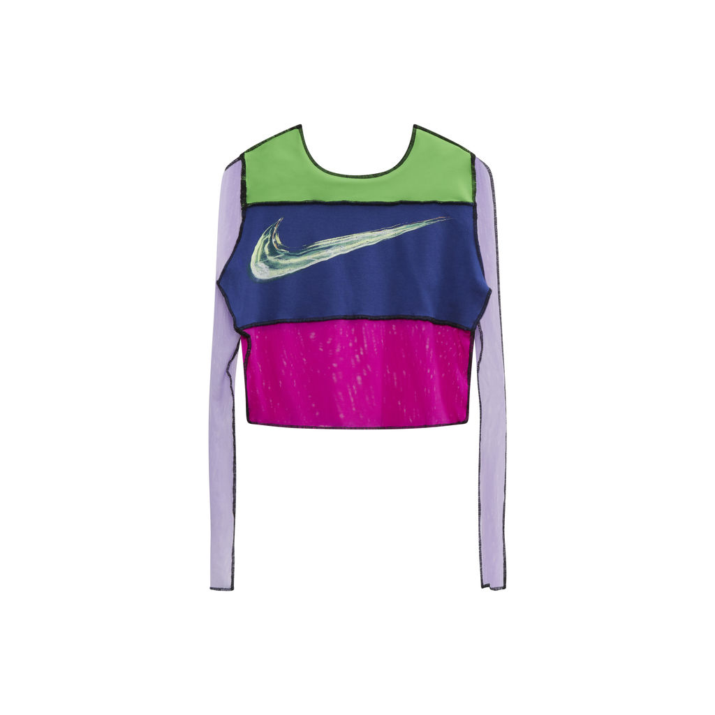 JJVintage Reworked Nike Long Sleeve Top in Green/Blue/Pink