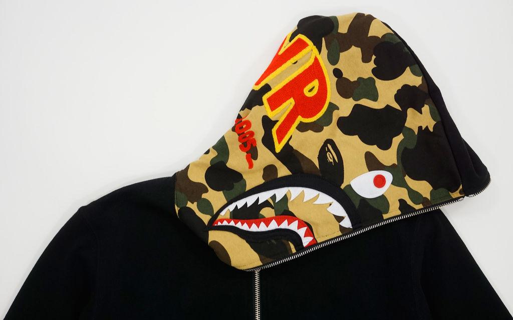 BAPE Ultimate 1st Camo Reversible PONR Shark Full Zip-Up Hoodie
