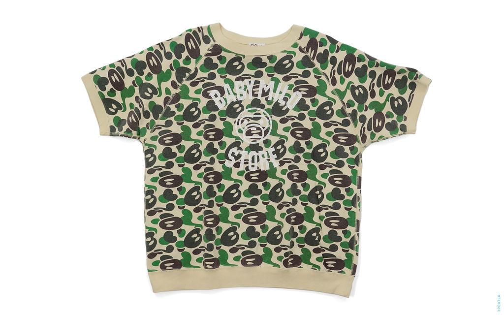 Baby Milo Store Milo Camo Vintage Wash Short Sleeve Crewneck Sweatshirt green