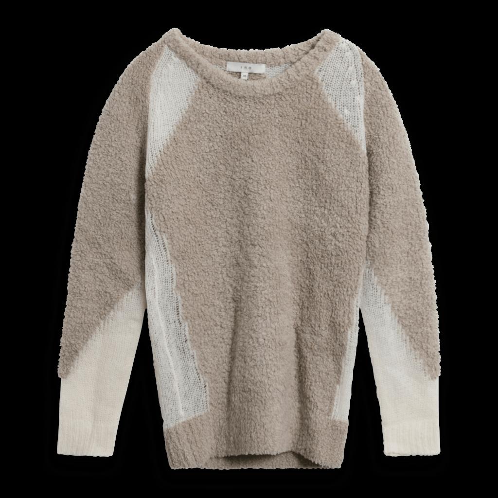 IRO Shani Wool Blend Crewneck Colorblock Sweater