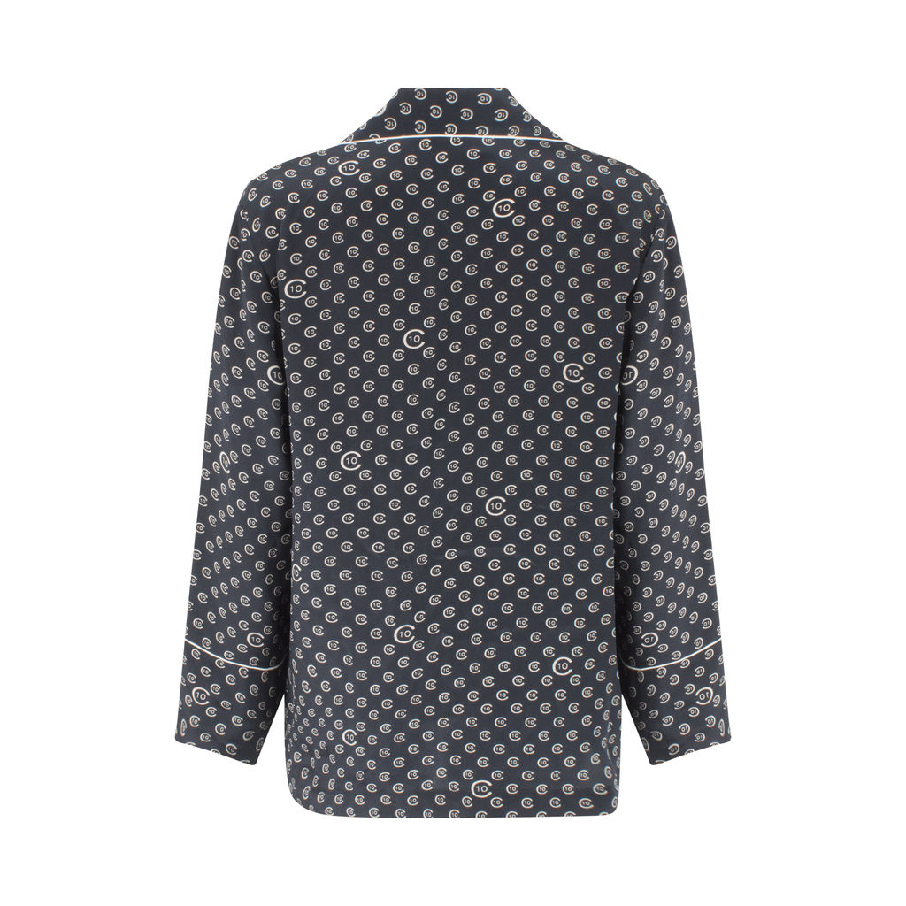 Derek Lam 10 Crosby Printed Button-Down Silk Top