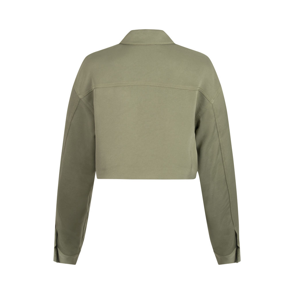 Le Fou by Wilfred- Cropped Olive Green Jacket