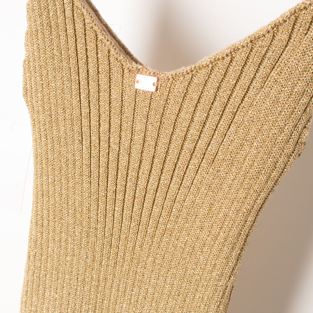 Sparkle Knit Metallic Tank Dress