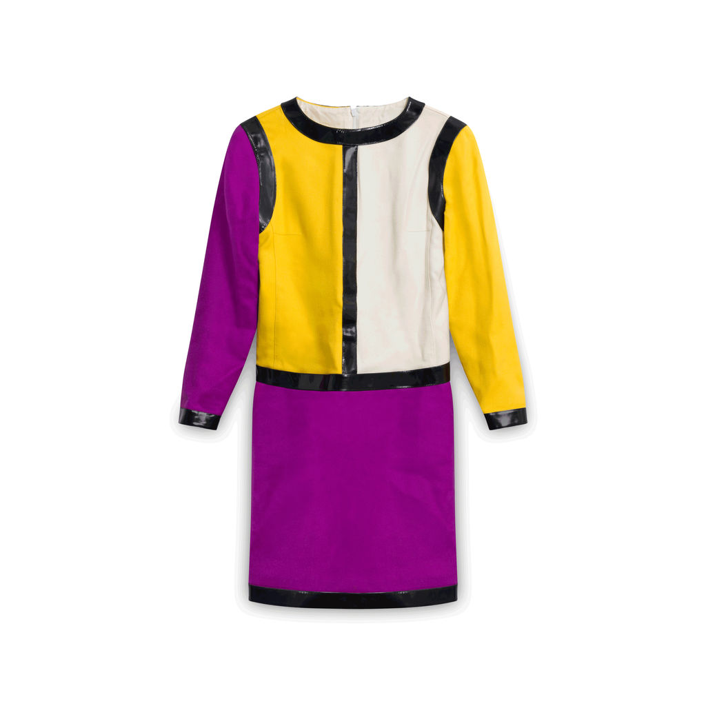 Courreges Color Block Mini-Dress